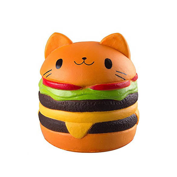Slow Rise Cat Burger Scented Squishy Sensory Toy