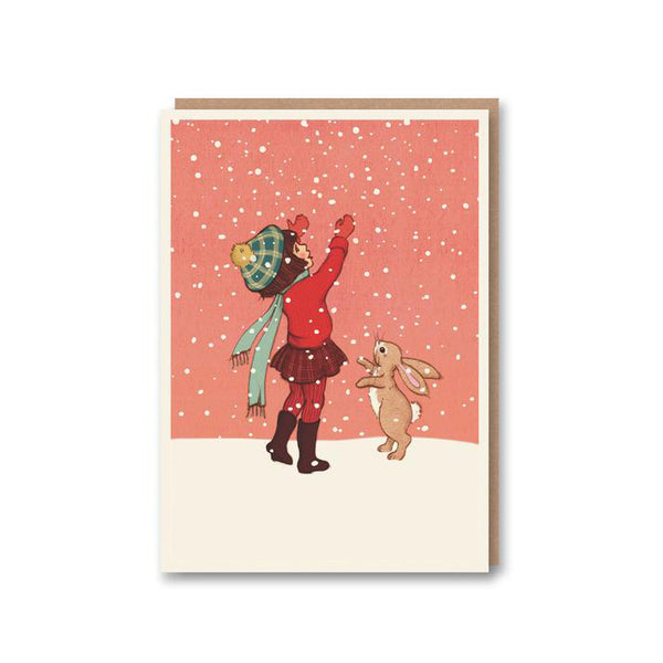 'Catching Snow' Card from Belle & Boo