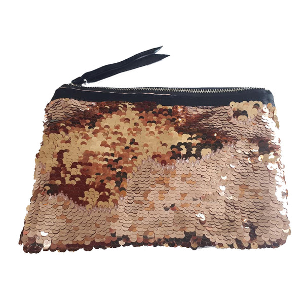 Champagne Colours Sequin Change Pouch