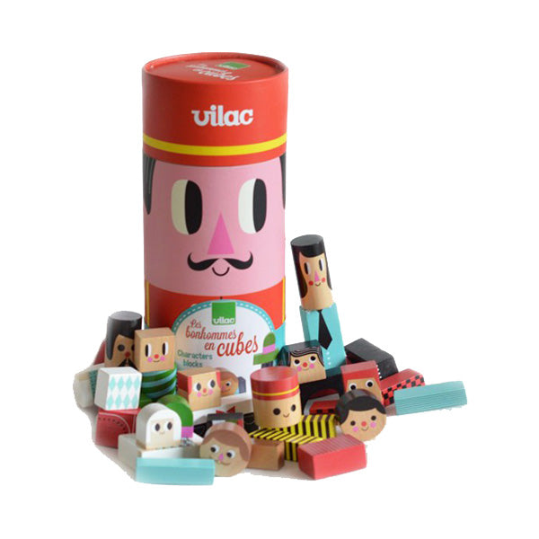 Characters Construction Box By Vilac