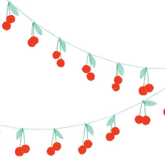 Cherry Pom Pom Garland by Meri Meri