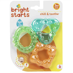 Teethers from Bright Starts - Orange, Blue and Green Textured Shapes