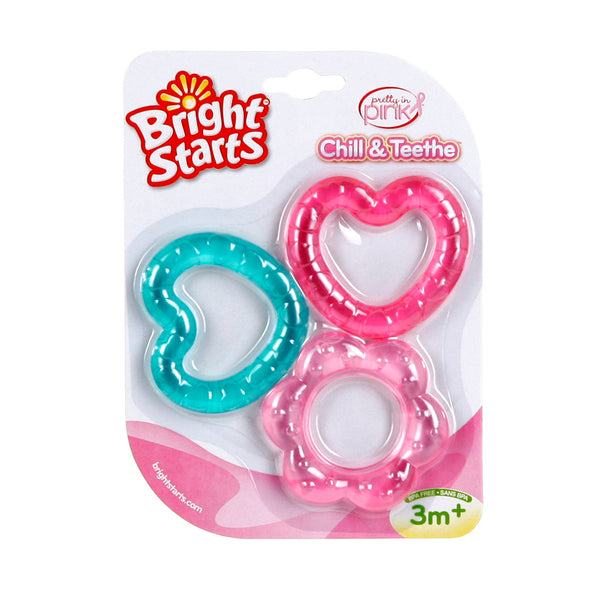Teethers from Bright Starts - Heart and Flower Textured Shapes