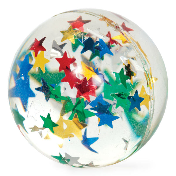 Classic Bouncy Ball- Clear Stars by Tobar