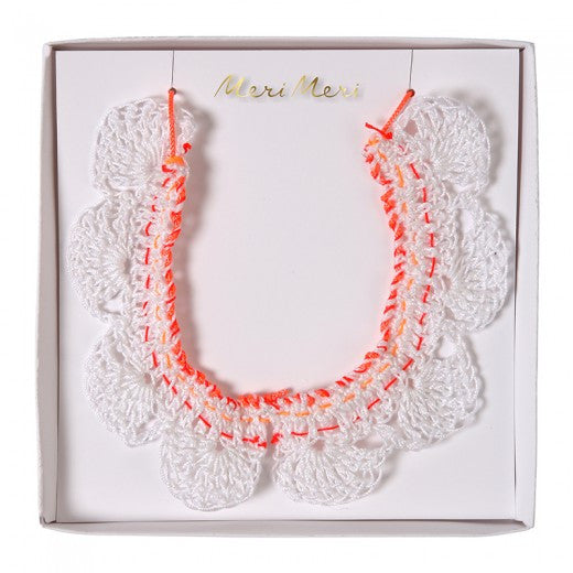 Crochet Collar Necklace by Meri Meri
