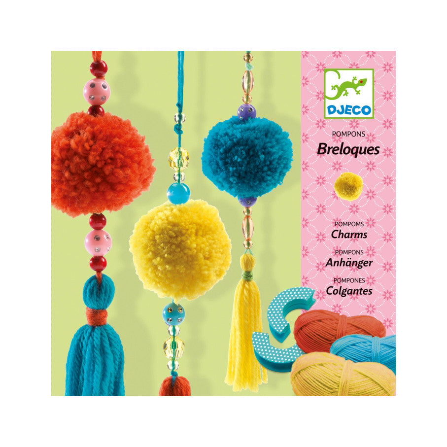 Breloque Pom Pom Charms Art Kit by Djeco - Little Citizens Boutique  - 1