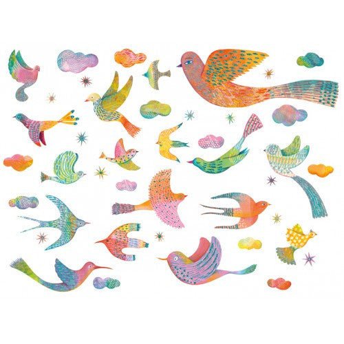 Bling Bling Bird Wall Stickers by Djeco