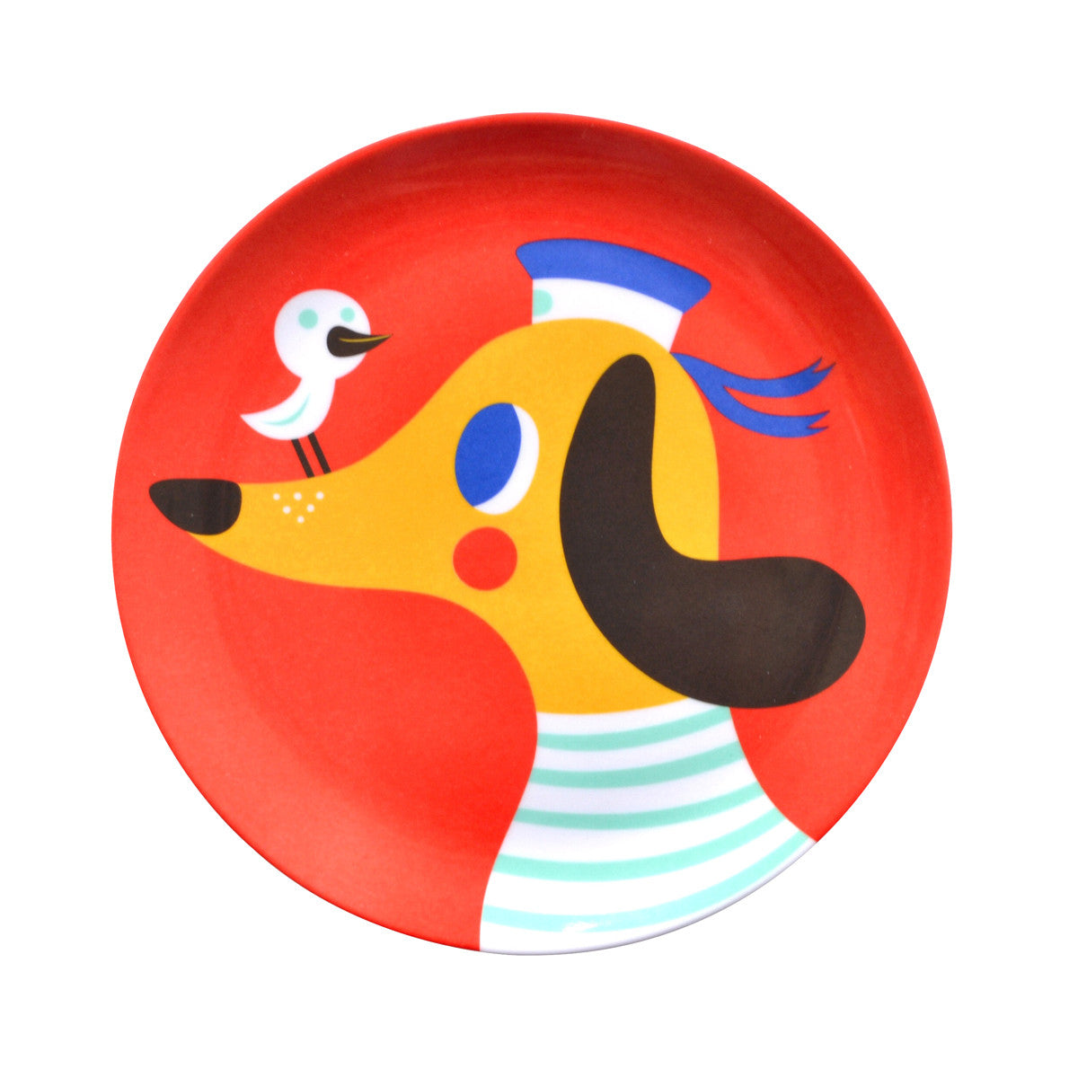 Helen Dardik Melanine Plate - Dog by Helen Dardik - Little Citizens Boutique