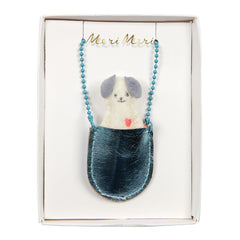 Dog Pocket Necklace by Meri Meri
