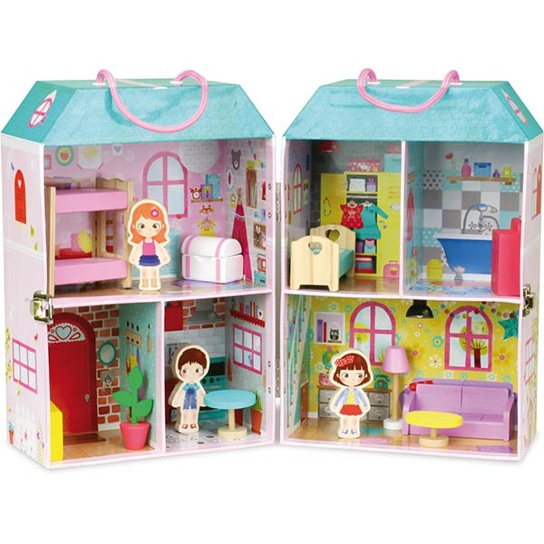 Doll House in a Suitcase by Vilac