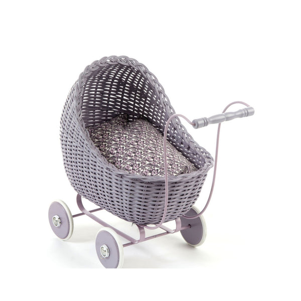 Doll Stroller Pram in Dusty Grey Rose - Smallstuff