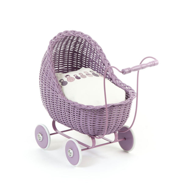 Doll Stroller Pram in Heather Lavender - Smallstuff