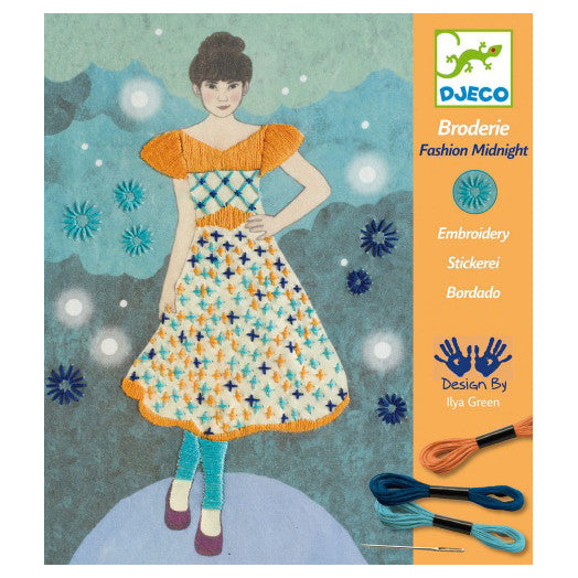 Fashion Midnight Embroidery by Djeco
