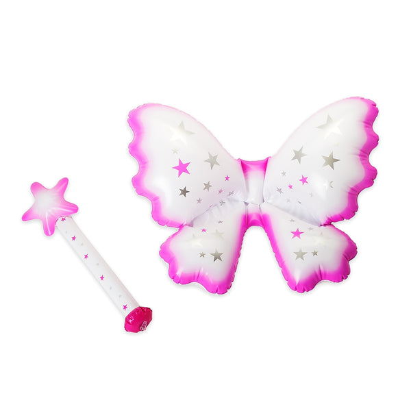 Fairy For The Day - Inflatable Fairy Wings and Wand by Natural Products