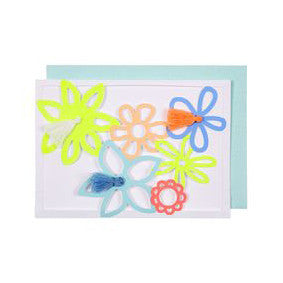 Flowers with Tassels Happy Birthday Card - Meri Meri