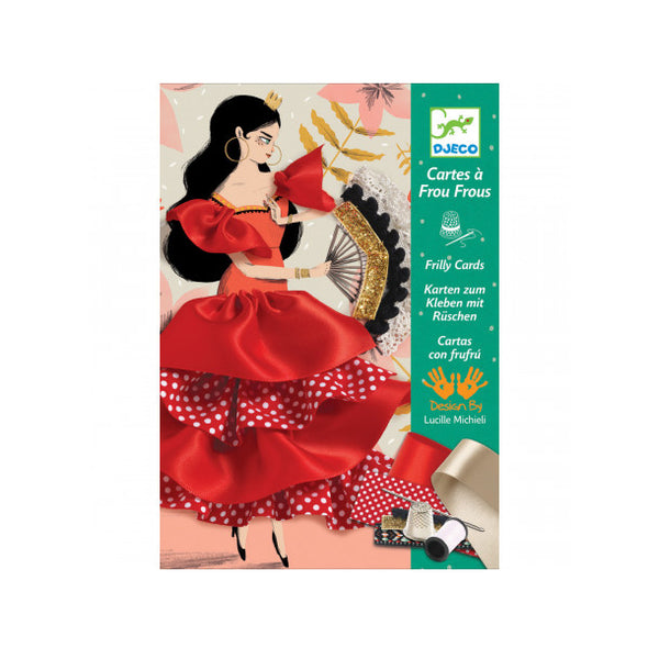 Flamenco Frilly Cards by Djeco