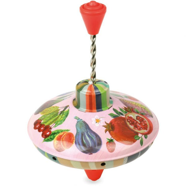 Fruit Theme Spinning Top by Nathalie L'ete for Vilac