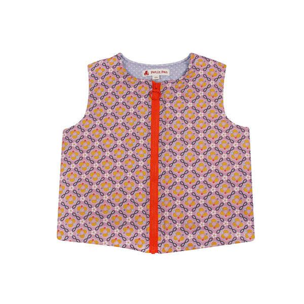 Zip Gilet Boussaina Parme from Petit Pan