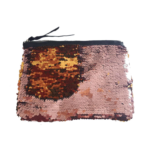 Gold and Pink Sequin Change Pouch
