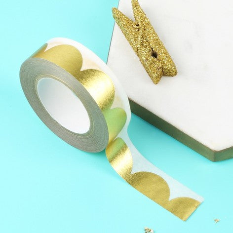Gold Scallop Foil Tape by Meri Meri
