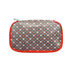 Large Coated Cotton Pencil Case Lichen Ardoise