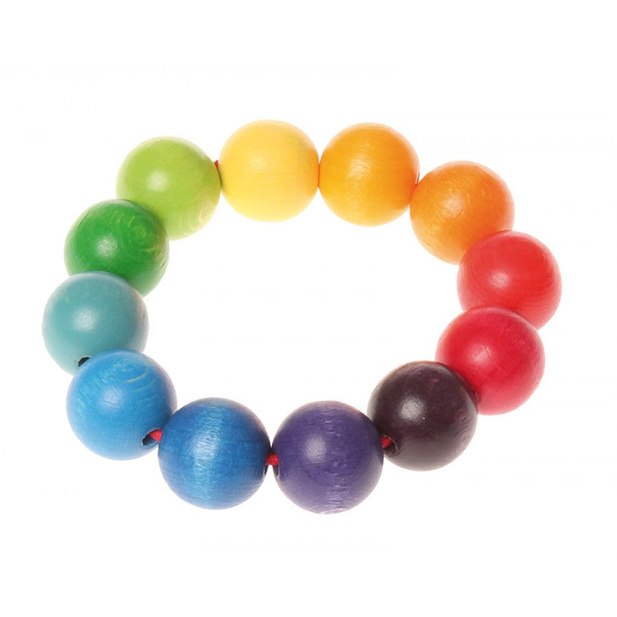Grasping Toy Rainbow Bead Ring by Grimm