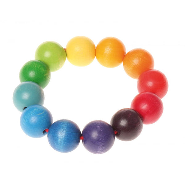Grasping Toy Rainbow Bead Ring by Grimm's