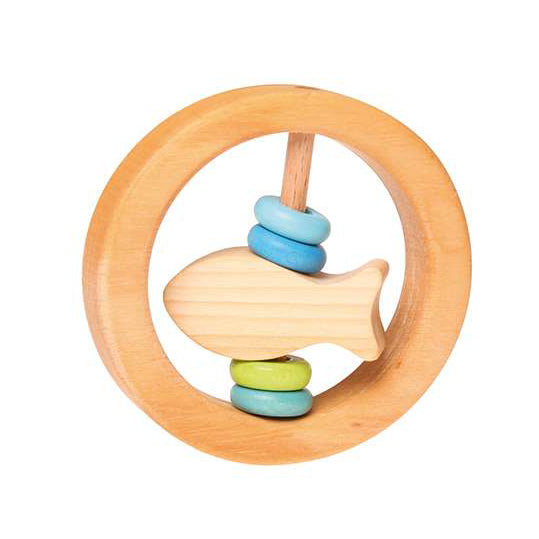 Little Fish Circle Grasping Toy with Wooden Discs - Grimm's