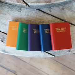 'Great Things From Small Beginnings' Leather Notebook from ARK