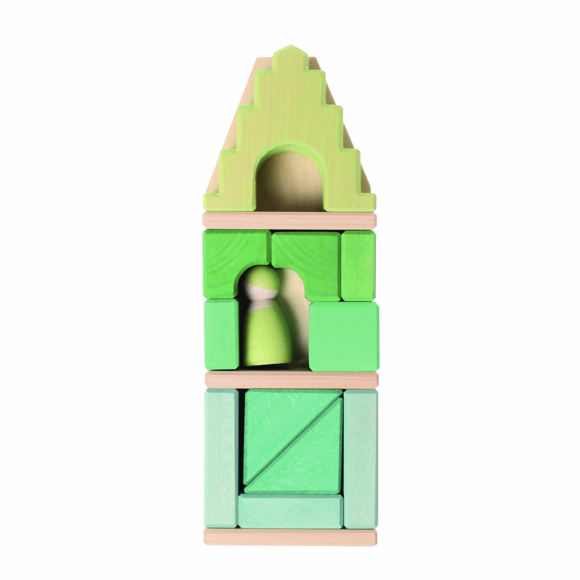 Green Framehouse Building Blocks by Grimm