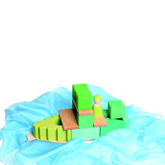 Green Framehouse Building Blocks by Grimm's