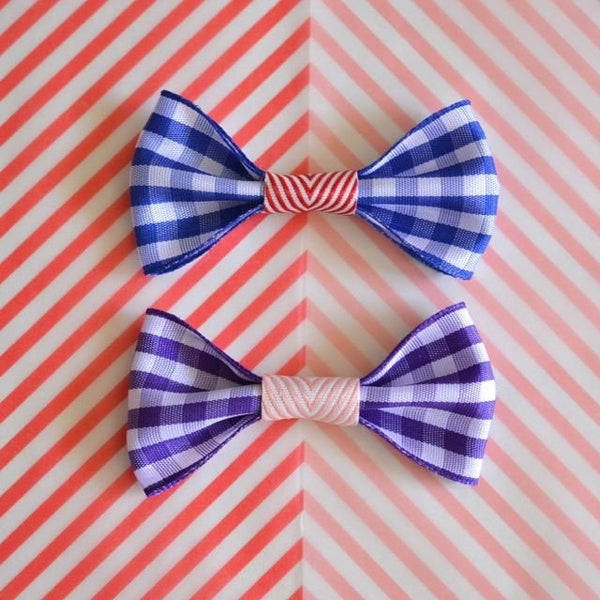 Gingham Hair Clip by Hello Shiso