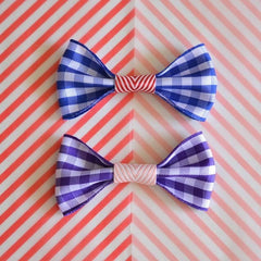 Gingham Hair Clip by Hello Shiso - Little Citizens Boutique  - 1