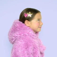 Glitter Shooting Star Hair Clip by Hello Shiso - Little Citizens Boutique  - 2