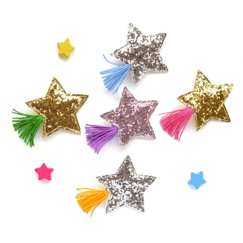 Glitter Shooting Star Hair Clip by Hello Shiso - Little Citizens Boutique  - 1