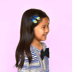 Moon Star Metallic Leather Hair Clips by Hello Shiso - Little Citizens Boutique  - 1