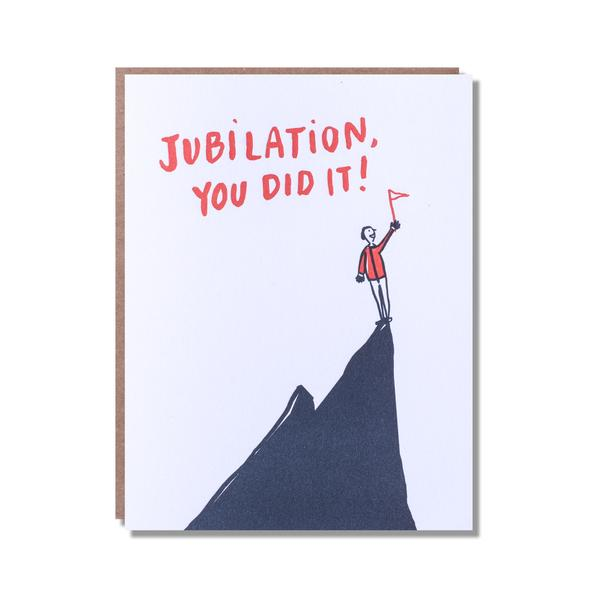 'Jubilation, You Did It!' Card from Egg Press