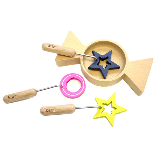 Ametchan Magical Wooden Bubble Wands for Blowing by Kukkia