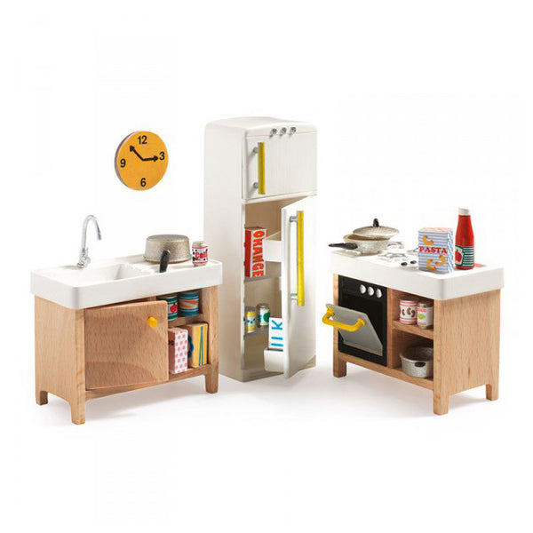 Kitchen Dollhouse Toy Furniture -Petit Home Toy Range by Djeco