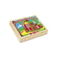 Wooden Chalet in a Box by Jeujura Toys - 135 pieces - Little Citizens Boutique  - 2