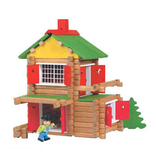 Wooden Chalet in a Box by Jeujura Toys - 135 pieces