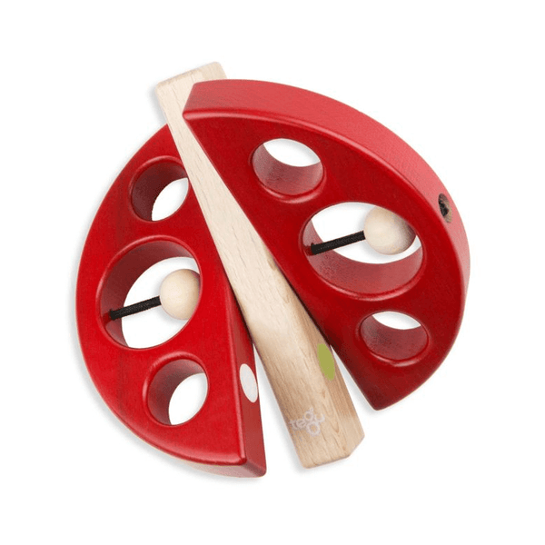 Red Swivel Bug a Magnetic Grasping Toy by Tegu