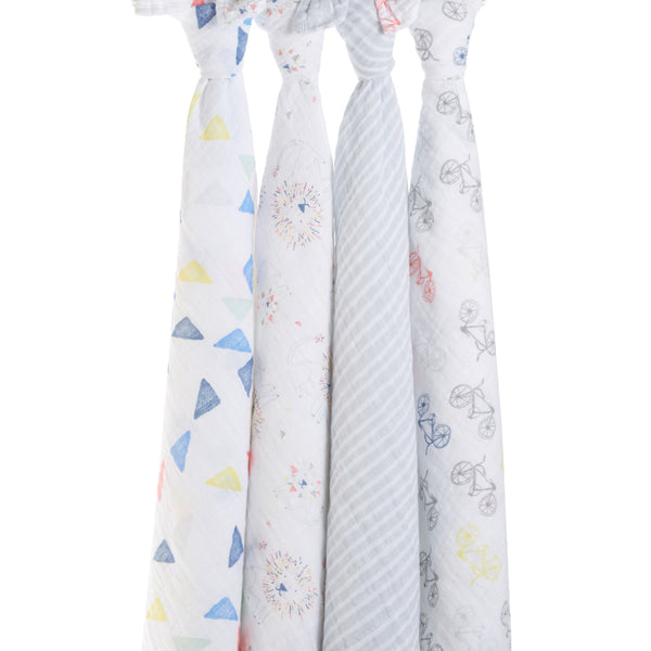 Leader of the Pack 4 Pack Classic Swaddles from Aden & Anais