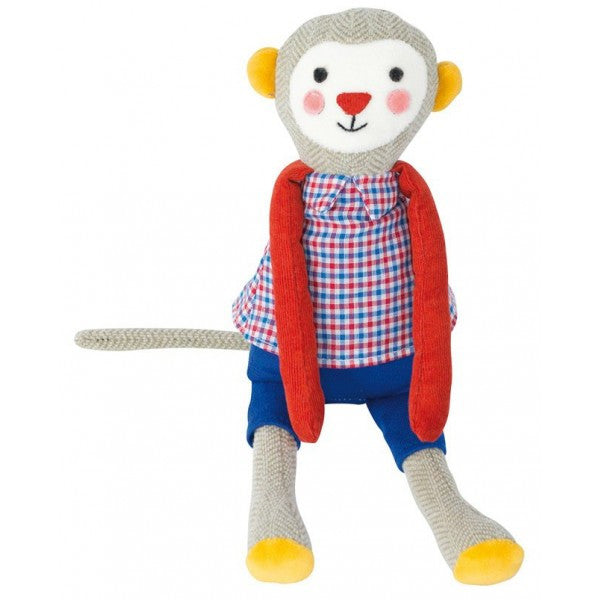 Les Popipop Monkey Doll by Moulin Roty