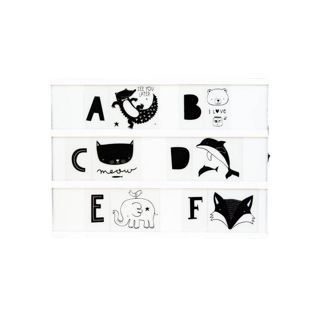 Kids ABC Pack in Monochrome for A4 and A5 Lightboxes - Little Citizens Boutique  - 1