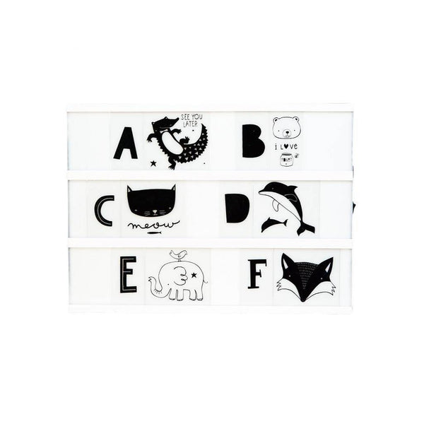 Kids ABC Pack in Monochrome for A4 and A5 Lightboxes
