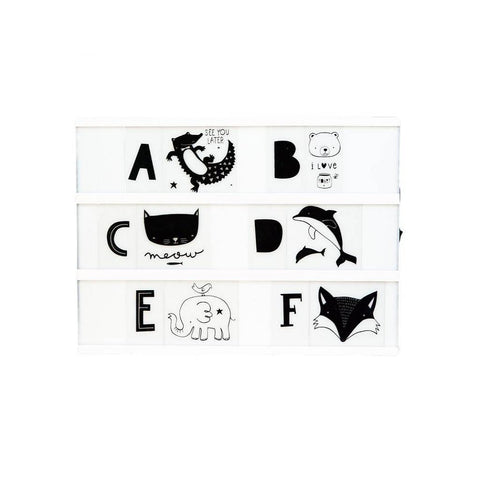 Script Letters Set For A4 And A5 Lightboxes Little