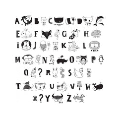 Kids ABC Pack in Monochrome for A4 and A5 Lightboxes - Little Citizens Boutique  - 2