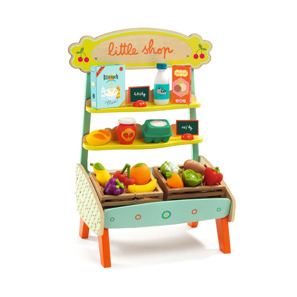 Little Shop Wooden Vegetable Stand by Djeco