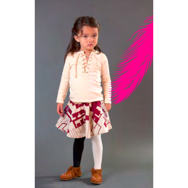 Indigo Logan Skirt in Cranberry - Little Citizens Boutique  - 1